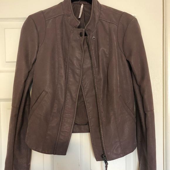 Free People Jackets & Blazers - Free People - Purple Leather Suede Jacket